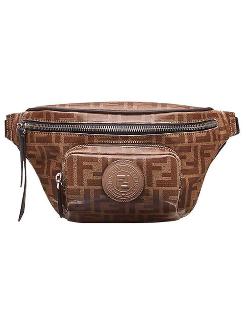 5405c0de47a4 Fendi Logo-print Belt Bag in Brown for Men - Lyst