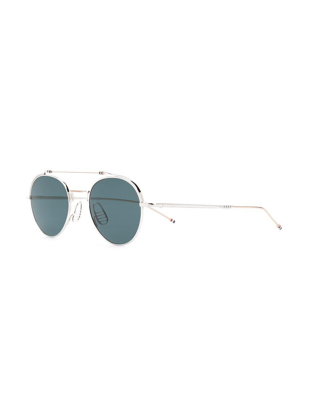 ab16e10b2c2 Lyst - Thom Browne Aviator Sunglasses in Metallic for Men