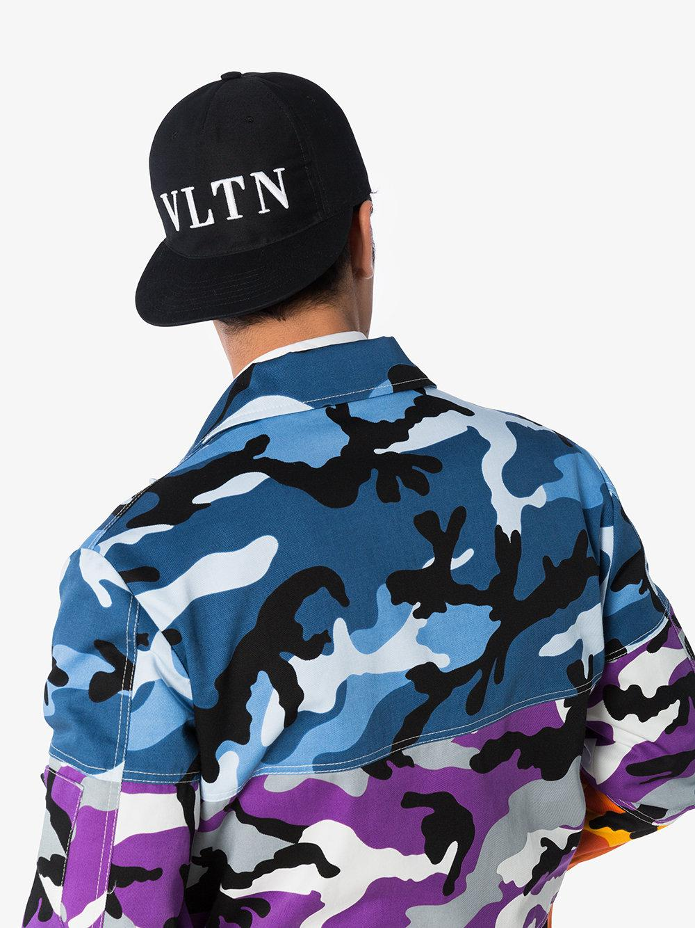 67cb8d01af1 Valentino - Black Vltn Logo Baseball Cap for Men - Lyst. View fullscreen