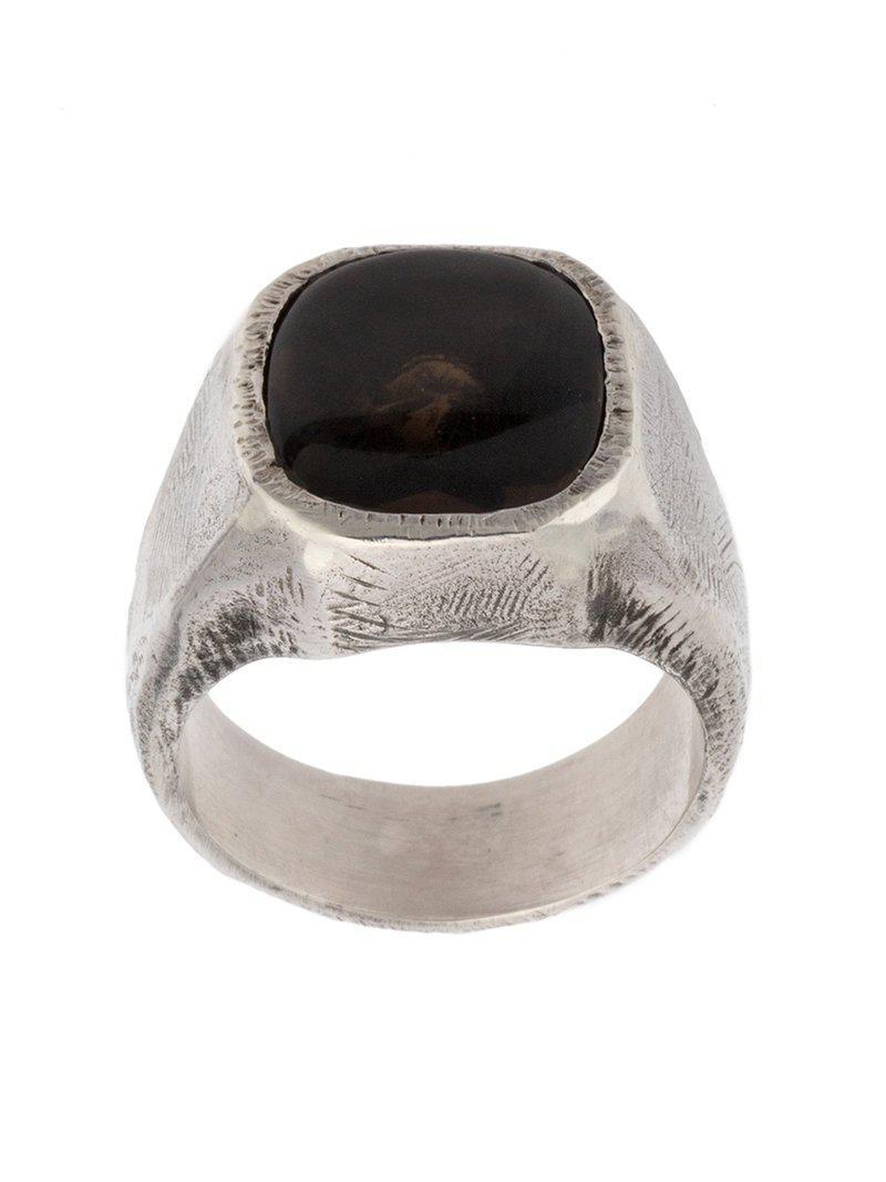 Tobias Wistisen stone embellished ring - Black YBVjG2kyh