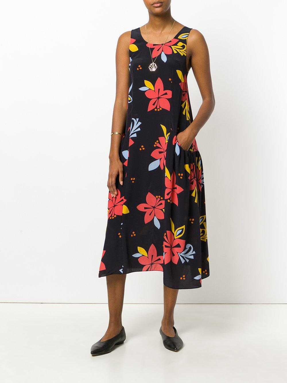 Robe Imprimé Floral - Chinti Bleu Et Parker CwfbLTHbk4