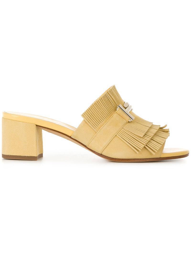 fringed sandals - Yellow & Orange Tod's RwOHvAXy9