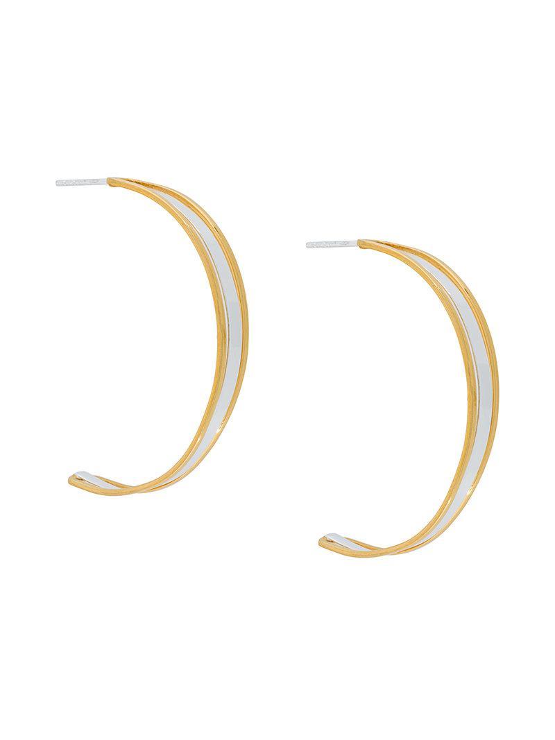 Maya Magal charm hoop earrings - Metallic 6WGxDU