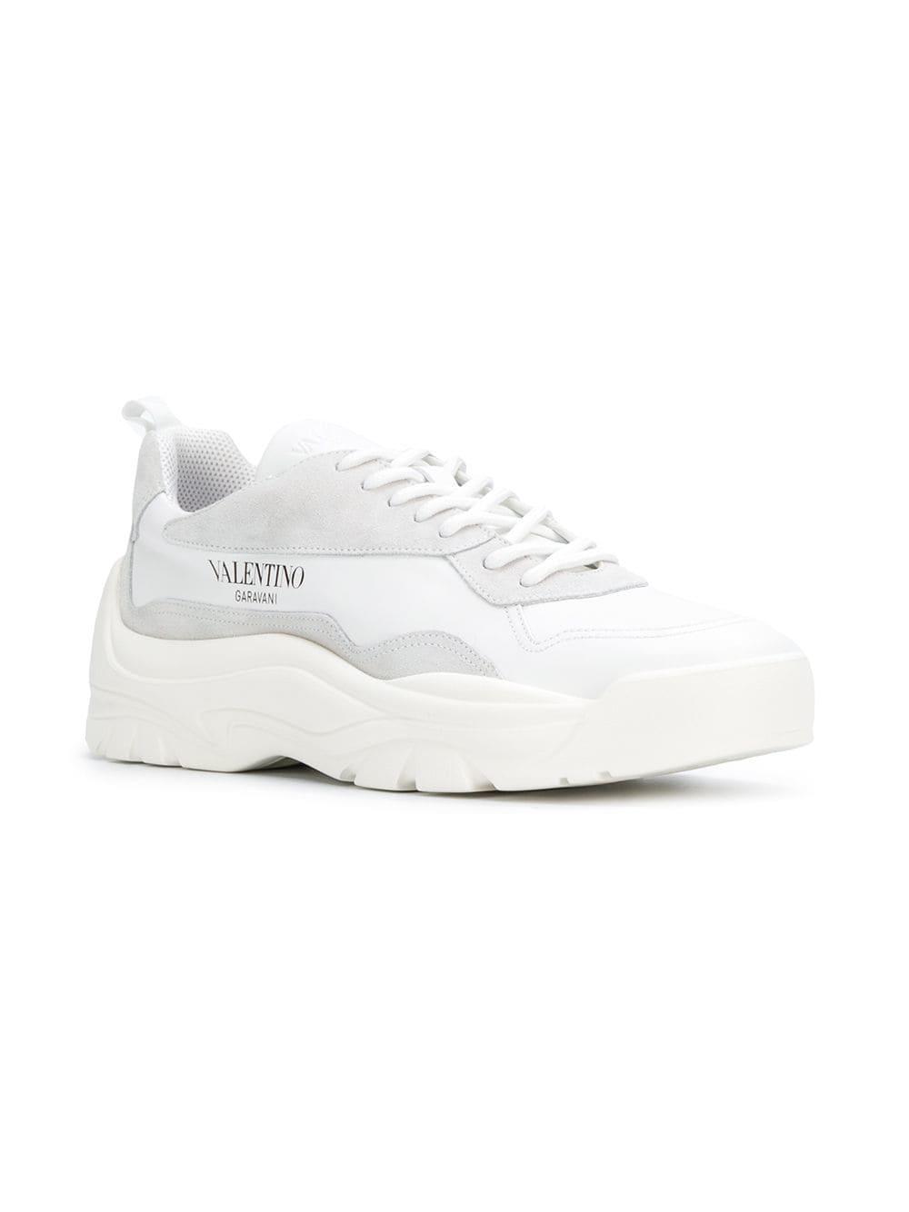 27f76f9022fa Valentino Garavani Chunky Sole Sneakers in White for Men - Save 2% - Lyst
