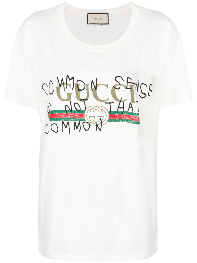 f6f1c5818 Gucci Coco Capitán Vintage Logo T-shirt in White - Lyst