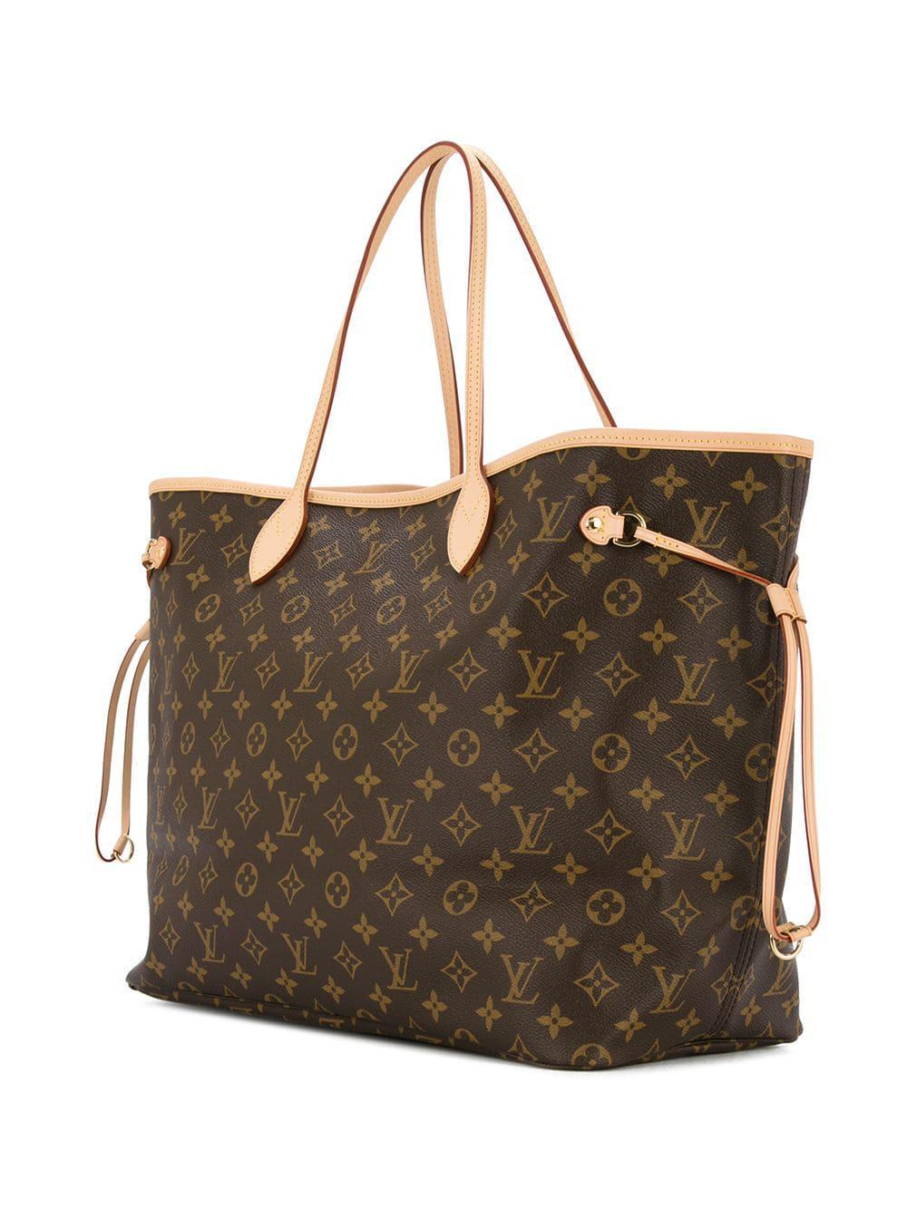 ee887d5d8bd9 Lyst - Bolso tote monogram Neverfull GM Louis Vuitton de color Marrón