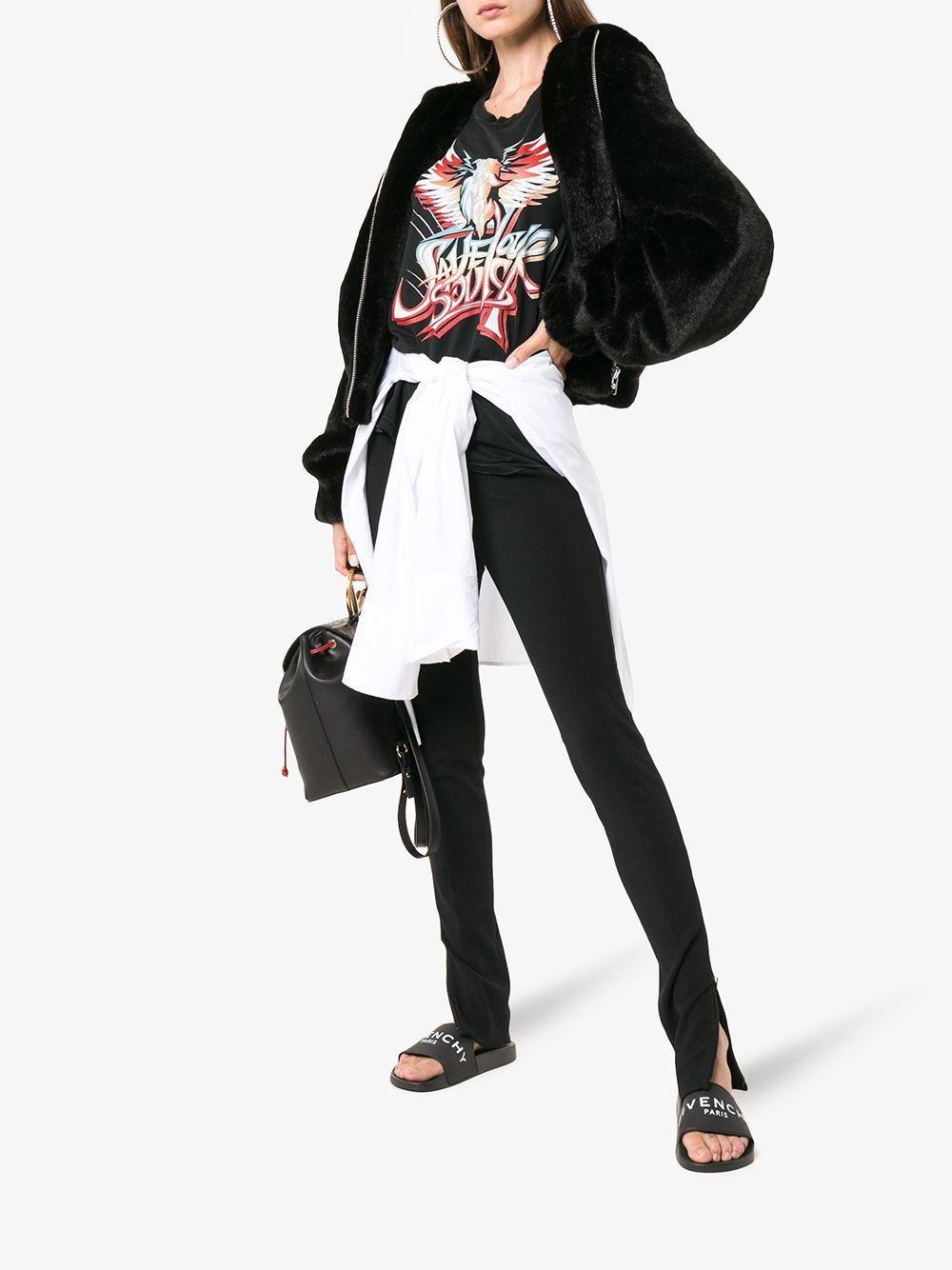 2245d2aed5d Lyst - Givenchy Paris Logo Rubber Slides in Black - Save 31%