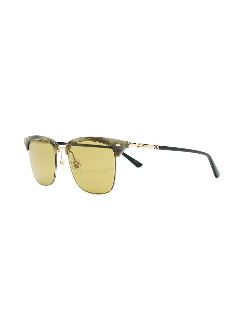 4892b44c519d6 Gucci Clubmaster Style Sunglasses in Gray for Men - Lyst