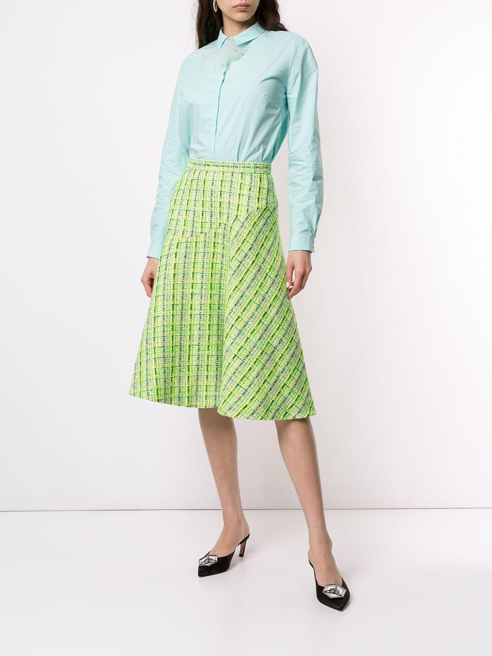 04ca3f8cdb Delpozo A-line Midi Skirt in Green - Lyst