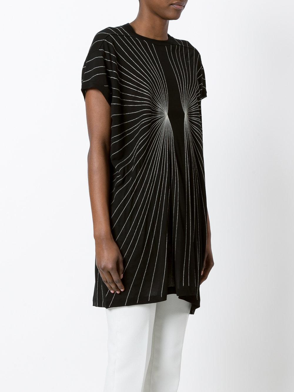 Affordable Cheap Online Pre Order Cheap Price stitch detailed T-shirt - Black Rick Owens Outlet Original opoLGtNj