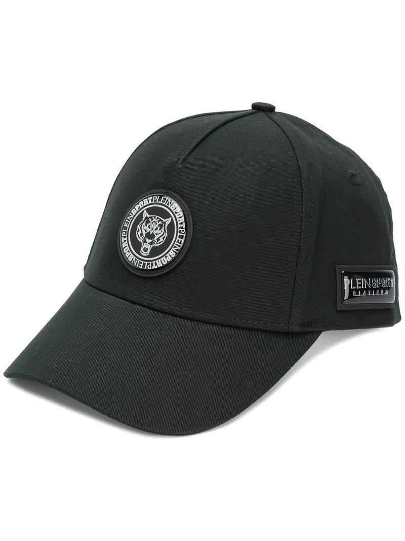 logo patch hat - Black Plein Sport fPBVB5Uz
