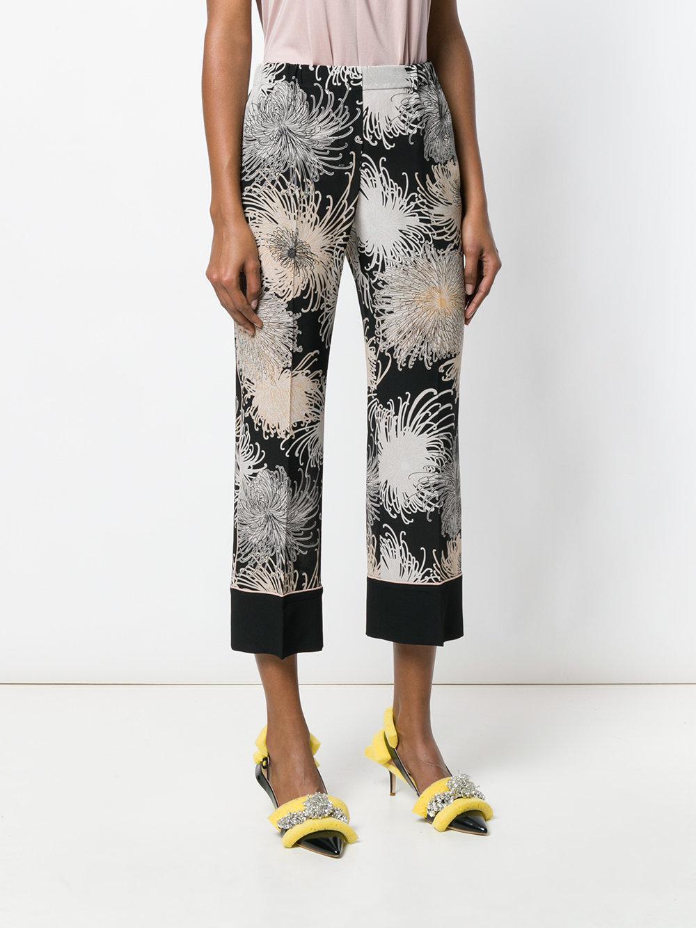 printed cropped trousers - Black N?21 l4gYH7