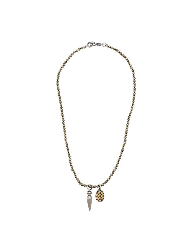 Bottega Veneta Dichotomy Intrecciato drop necklace jJ2OO