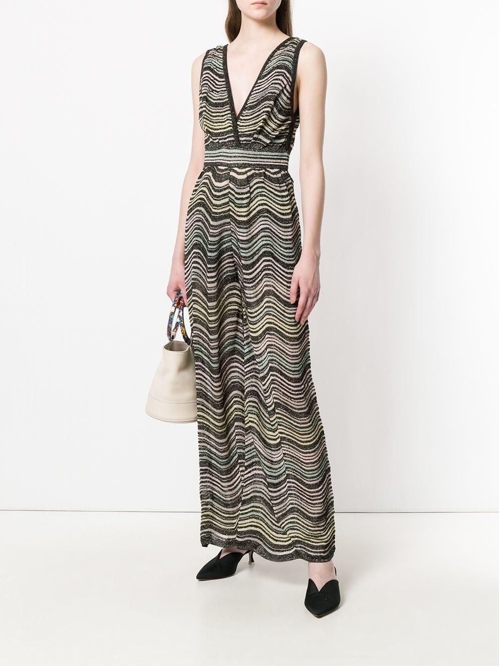 cbdb690af43a M Missoni - Black Striped Jumpsuit - Lyst. View fullscreen