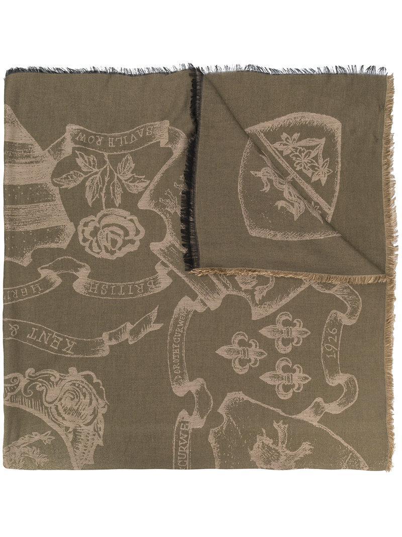 8db132c9df31 Lyst - Écharpe à motifs intarsia Kent   Curwen pour homme en coloris ...