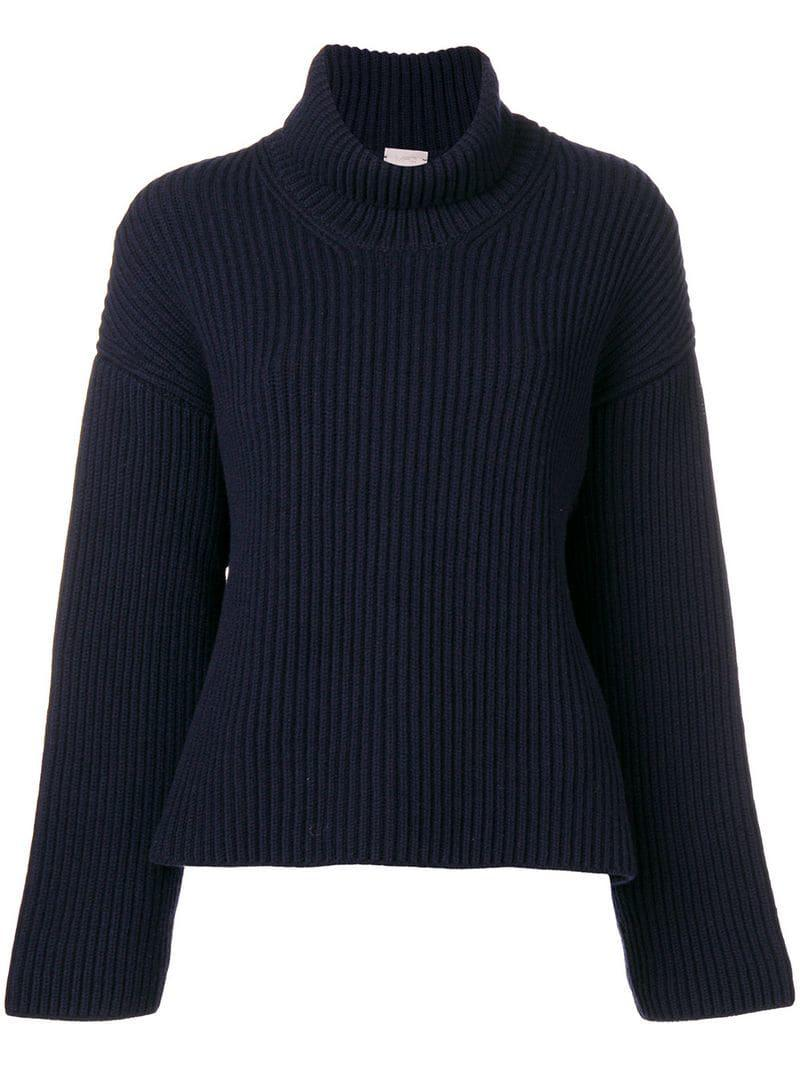 f5238e3ef36a1 Mrz Rollneck Knitted Sweater in Blue - Lyst