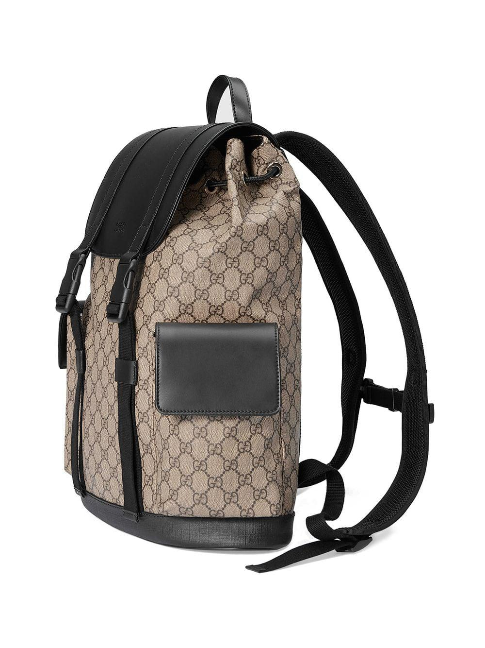 308484a6f22e22 Gucci Soft GG Supreme Backpack in Brown for Men - Lyst
