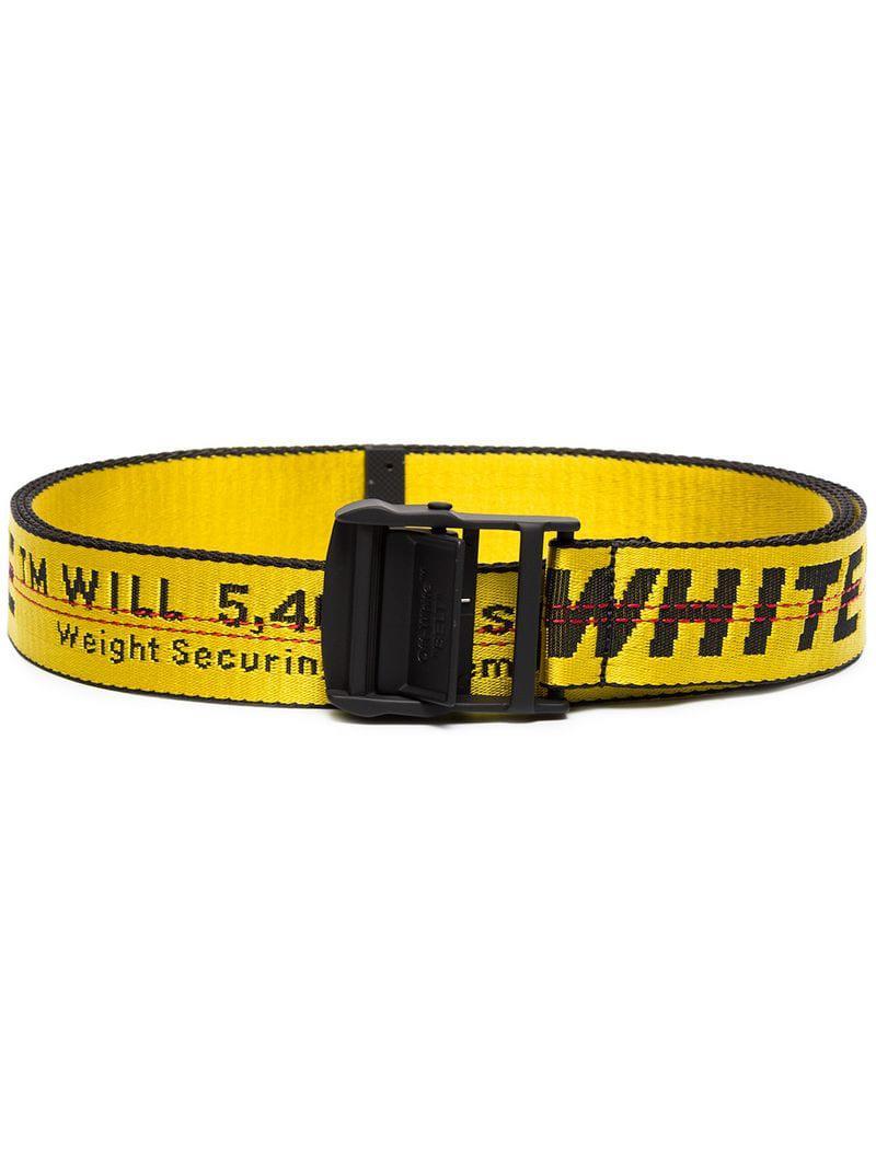 Lyst - Ceinture Industrial à logo Off-White c o Virgil Abloh pour ... 2d563009610