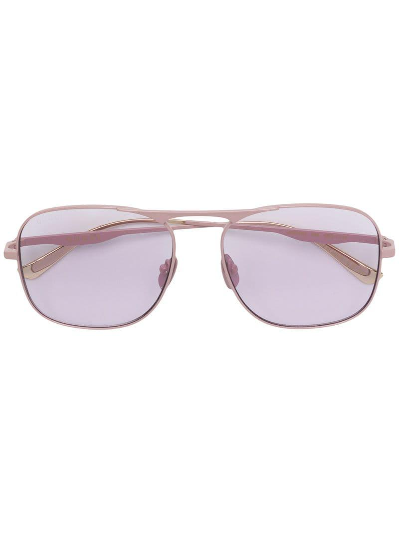 835d05ed2f0 Gucci Square Frame Sunglasses in Pink - Save 3% - Lyst