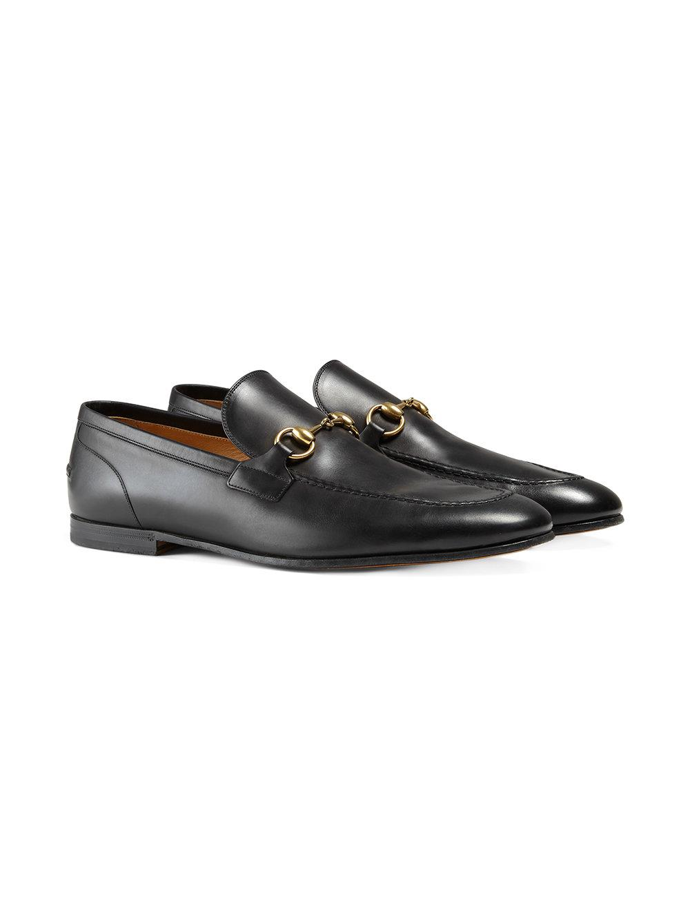 61c43a66fd806 Gucci Jordaan Leather Loafer in Black for Men - Save 5% - Lyst
