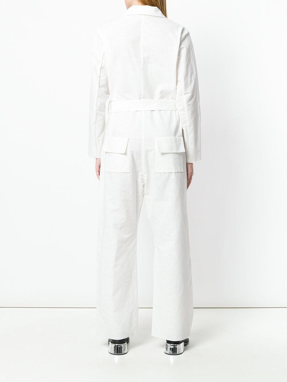 con utilidad de Jumpsuit blanco cinturón Cherevichkiotvichki Lyst wCOx0nHgAq