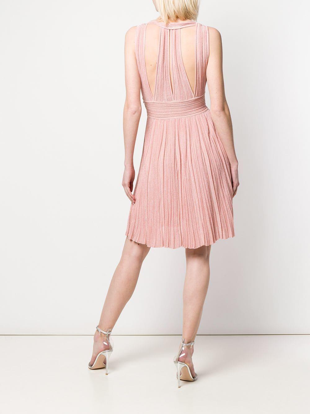 Antonino Valenti - Pink Plunging Neck Dress - Lyst. View fullscreen adb52366c