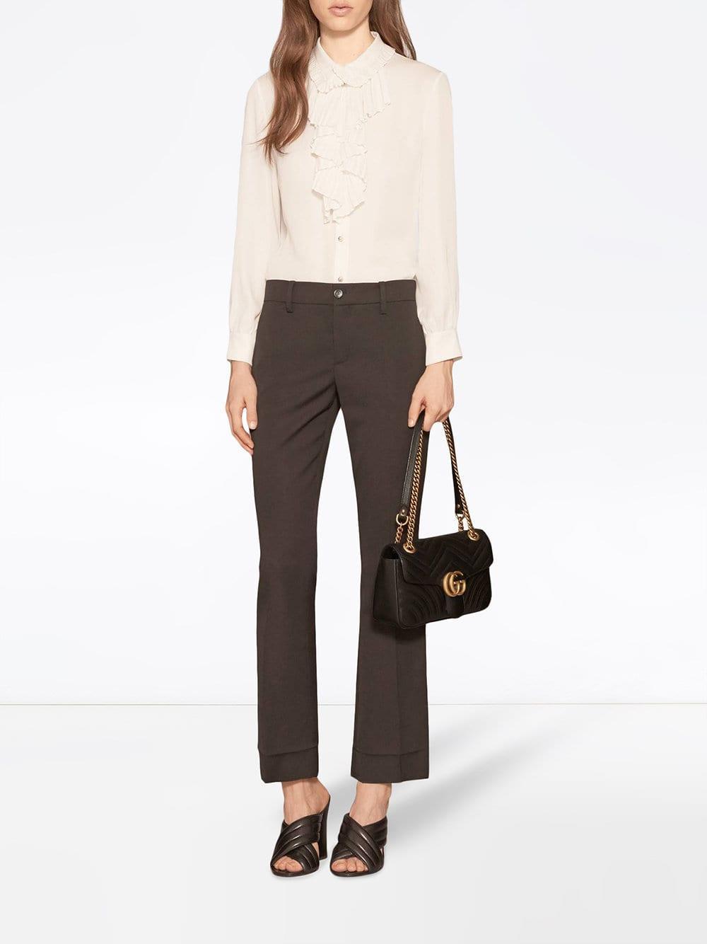 7f9a00923 Gucci - Black GG Marmont Small Matelassé Shoulder Bag - Lyst. View  fullscreen