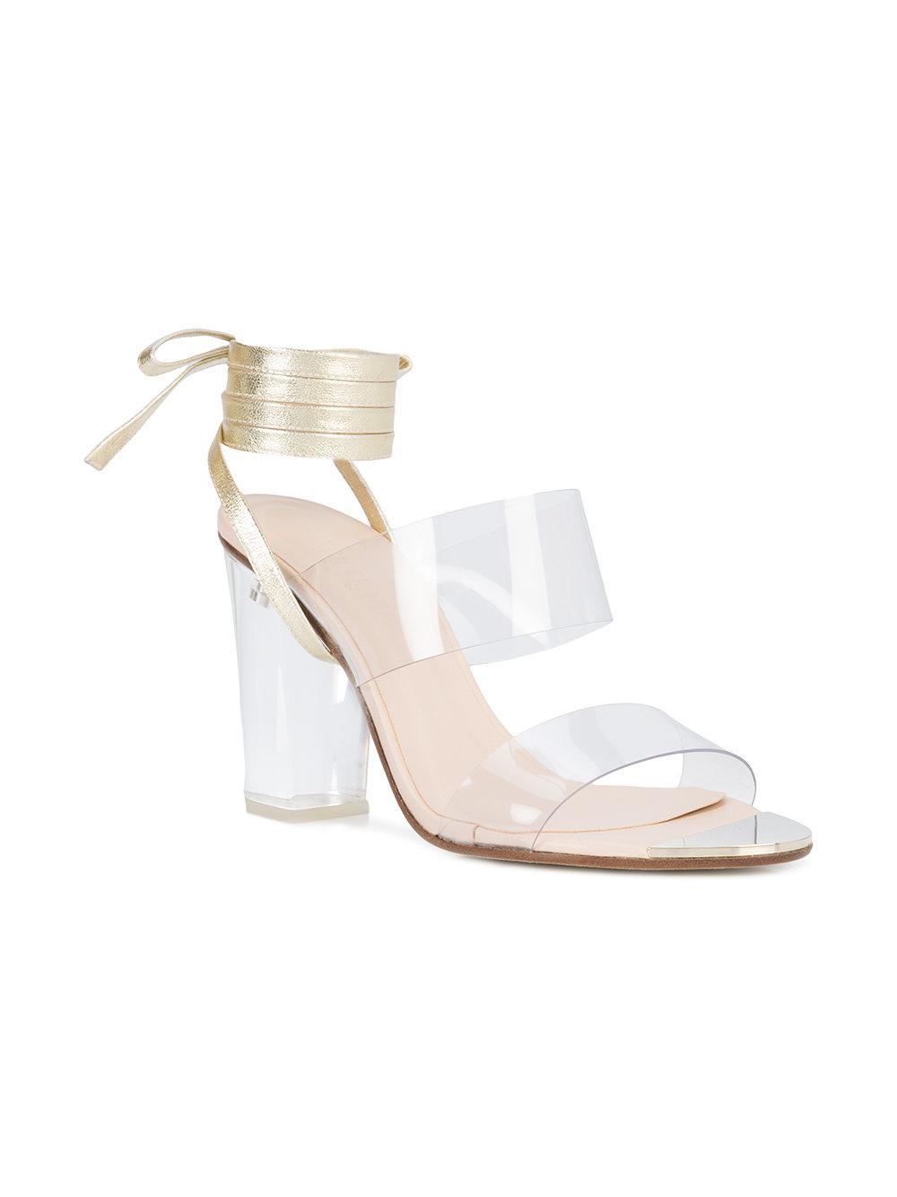8c6342b7579f Lyst - Ritch Erani Nyfc Clara Wrap Sandals in Metallic