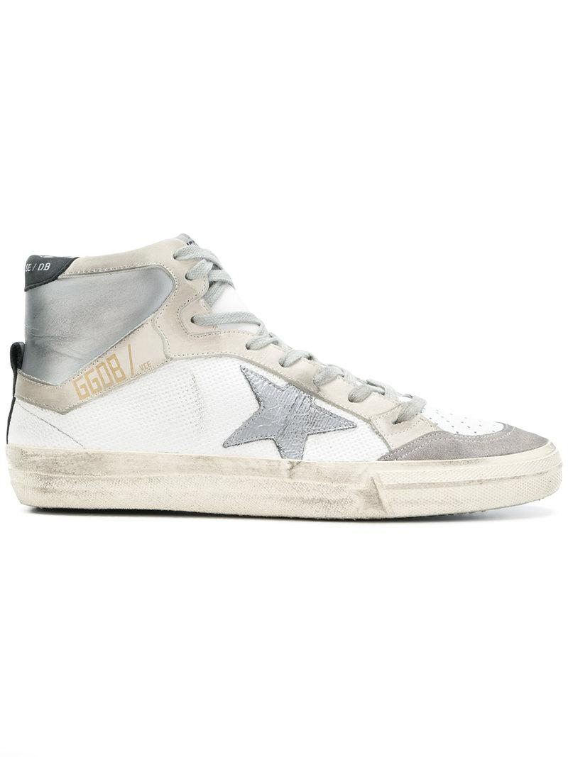 2.12 hi-top sneakers - Metallic Golden Goose