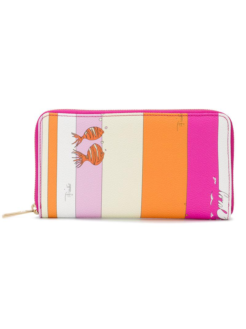 zip-around wallet - Pink & Purple Emilio Pucci qIAWc