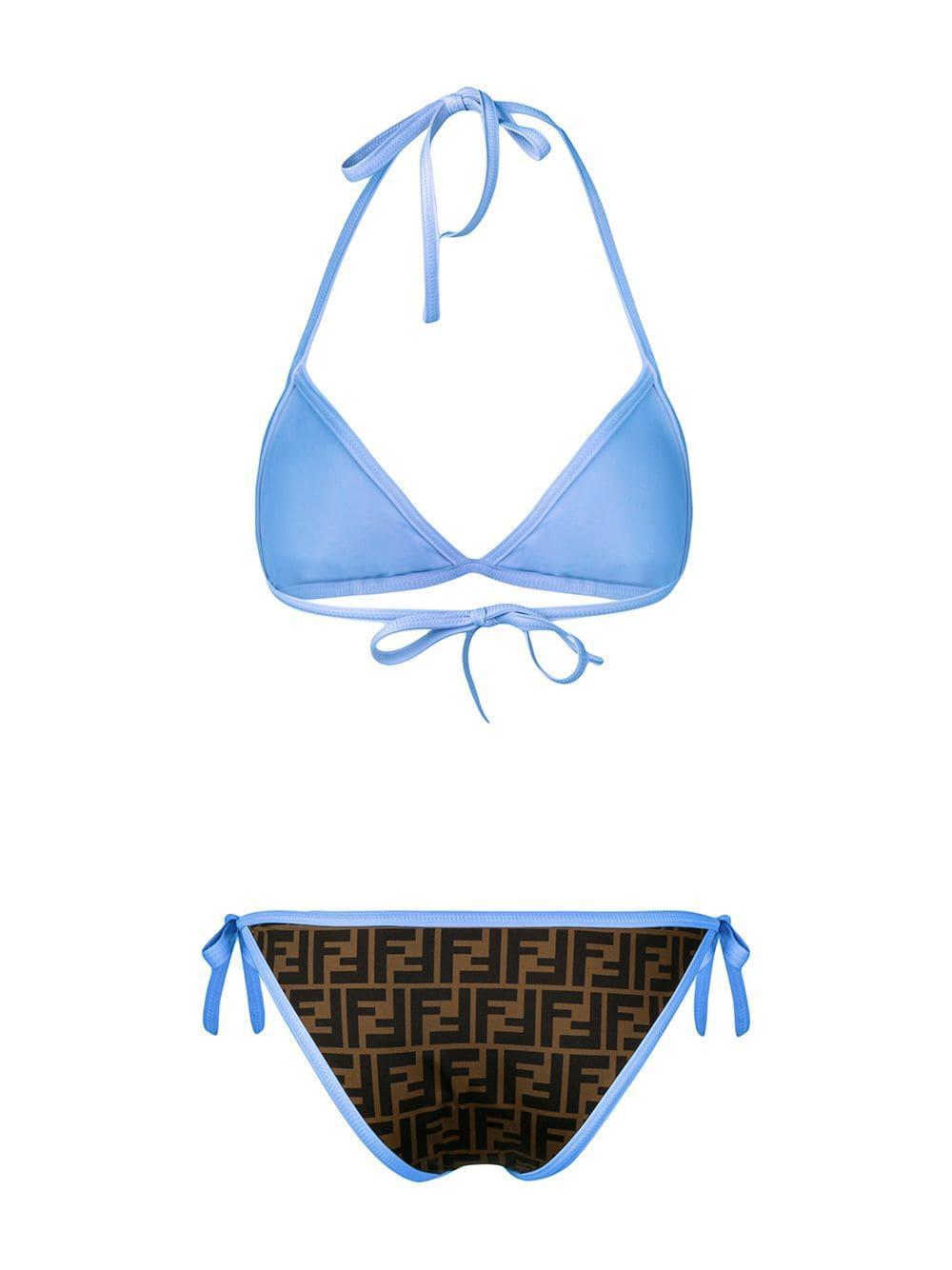 c8cc1555fe Fendi - Blue Monogram Bikini Set - Lyst. View fullscreen