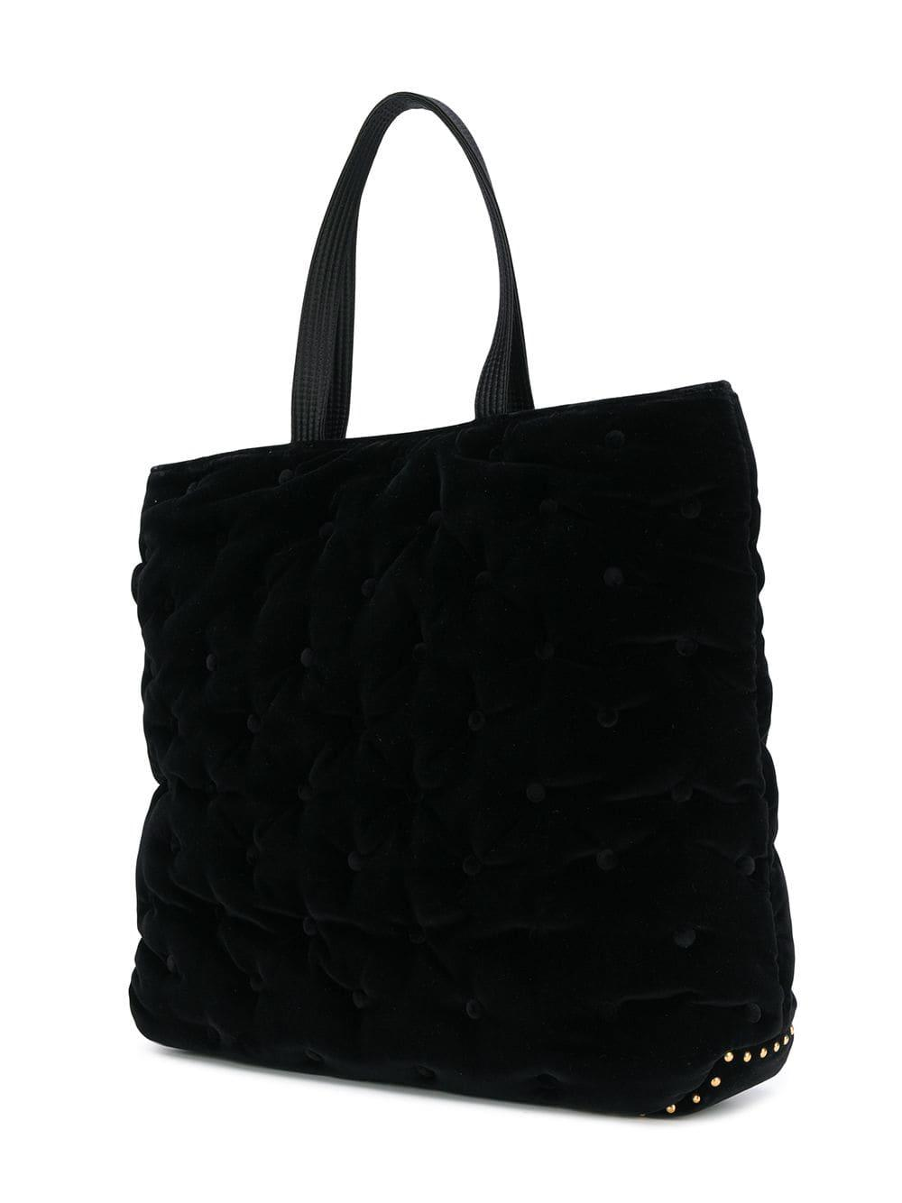 6c889cf493f6 Lyst - Versace Quilted Medusa Tote Bag in Black for Men