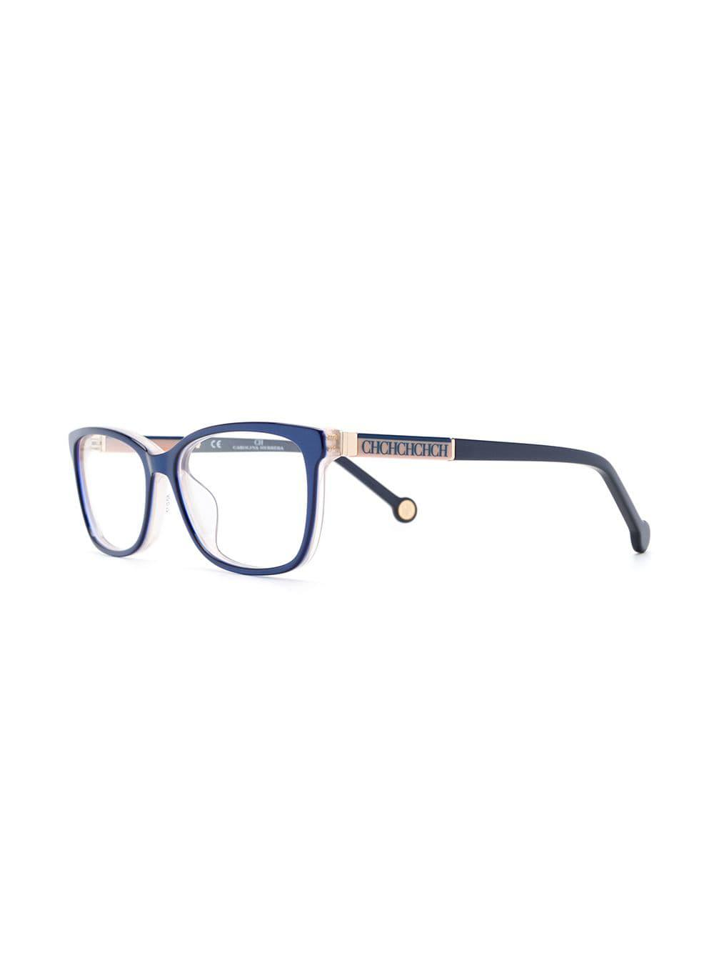 dfe5133b0fd Ch By Carolina Herrera Square Frame Glasses in Blue - Lyst