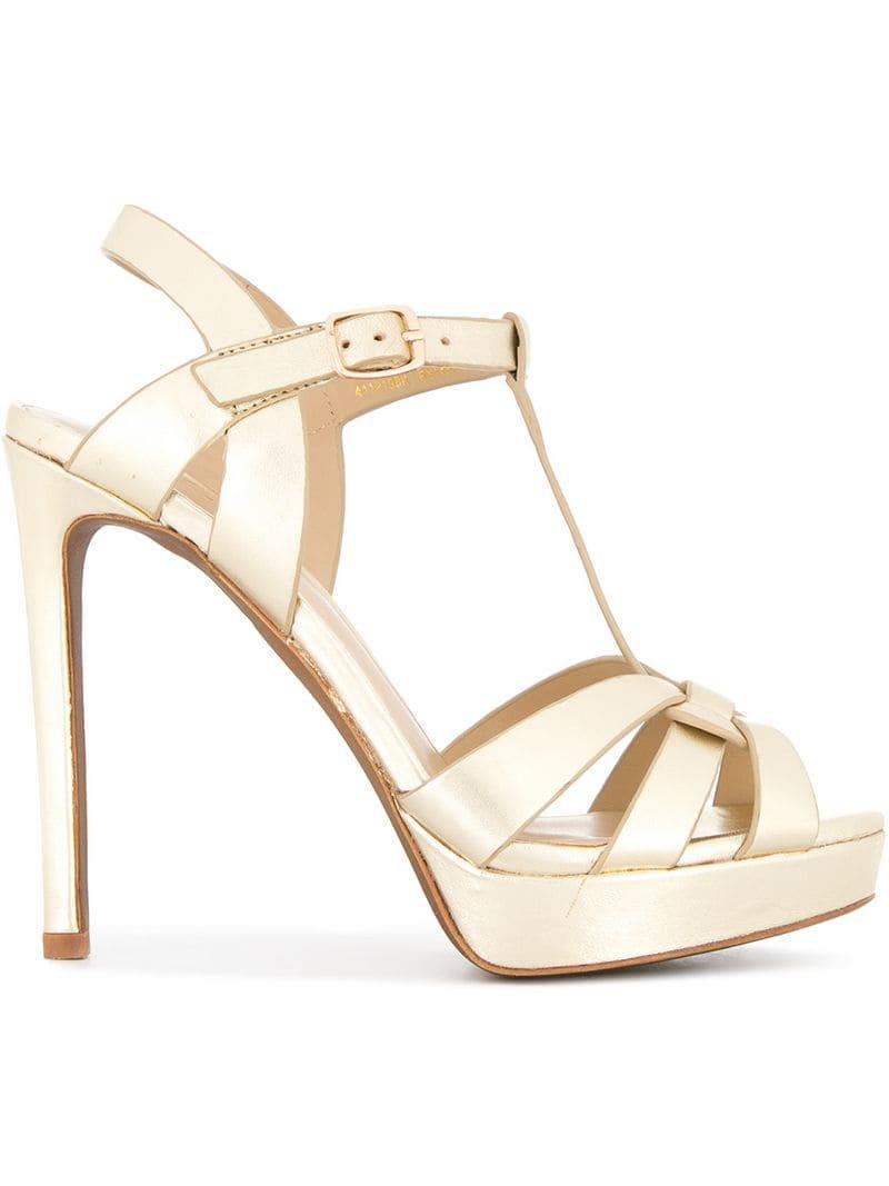 527df57bfe70 Lyst - Lola Cruz Platform Stiletto Sandals in Metallic