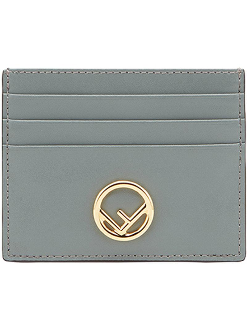 213836a564be Lyst - Fendi Logo Cardholder in Blue