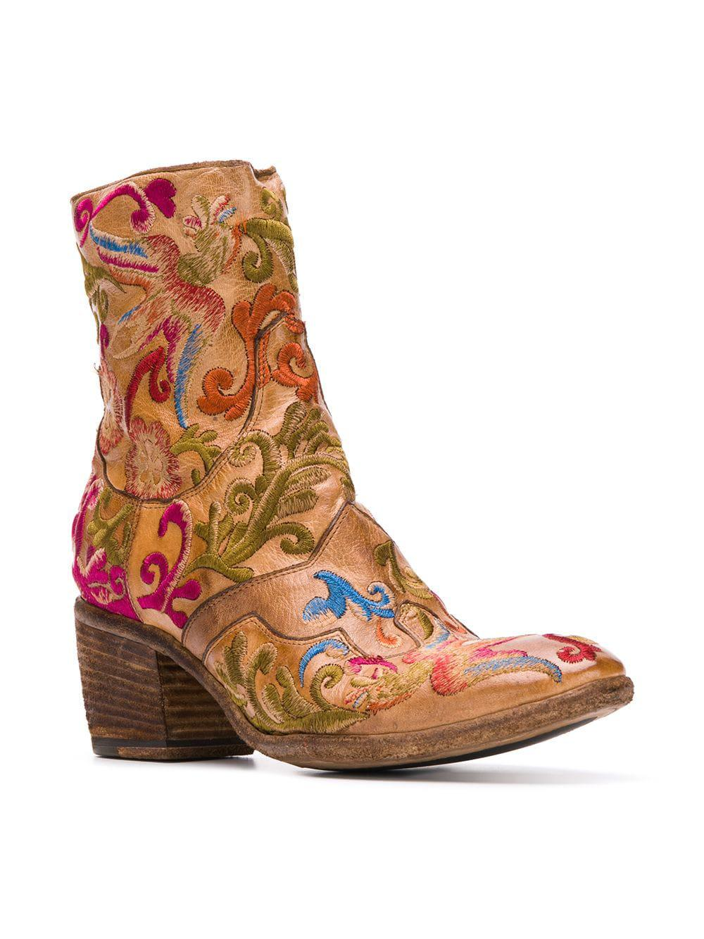 Brown Fauzian Boots Embroidered in Lyst Ankle Jeunesse g6x8wq4