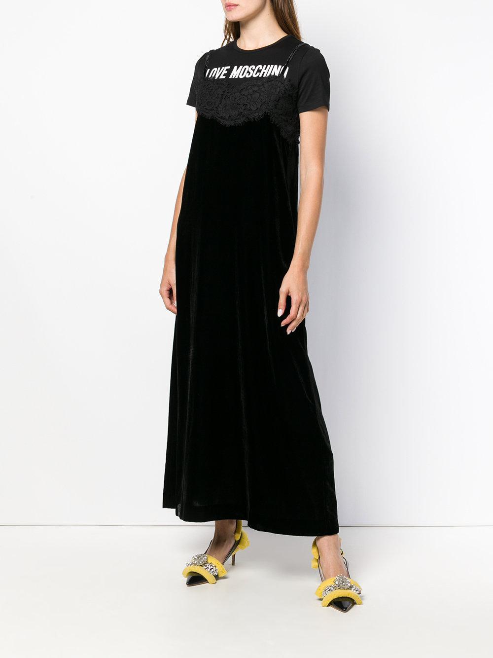 lingerie T-shirt dress - Black Love Moschino gRaTR0lm