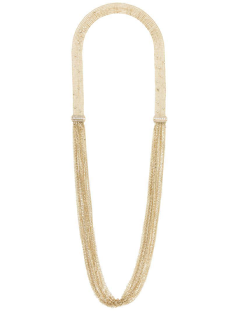 I.V.I. Dalhia tiger fringe necklace - Metallic uI9KLyVDS