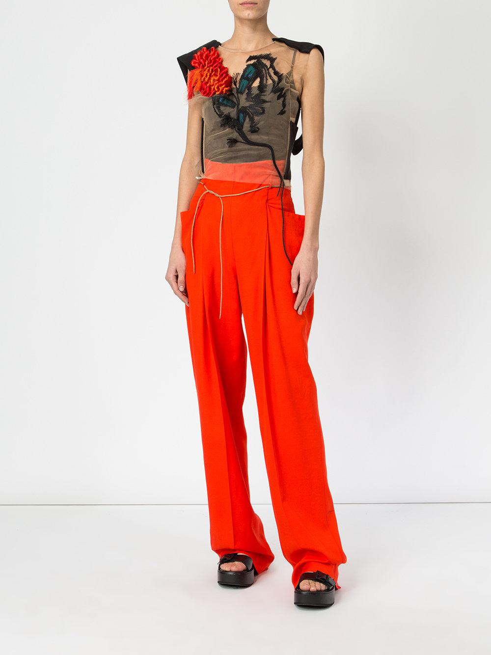 Purchase Your Favorite  Clearance Online Fake high waisted trousers - Yellow & Orange Litkovskaya Footaction For Sale Amazing Price For Sale Free Shipping Eastbay FAs2CDf