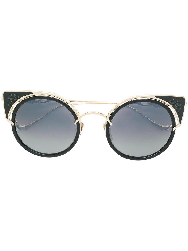 Lyst - Chrome Hearts Cat-eye Frame Sunglasses in Black