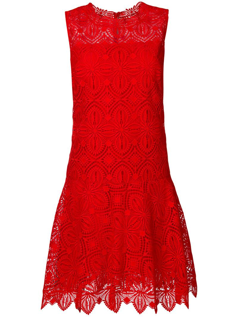 broiderie anglaise mini dress - Red Ermanno Scervino Qtt2mxdV