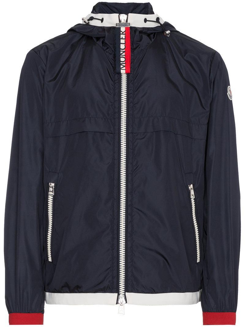 3624e55b5 Lyst - Moncler Blue Alshat Hooded Shell Jacket in Blue for Men ...