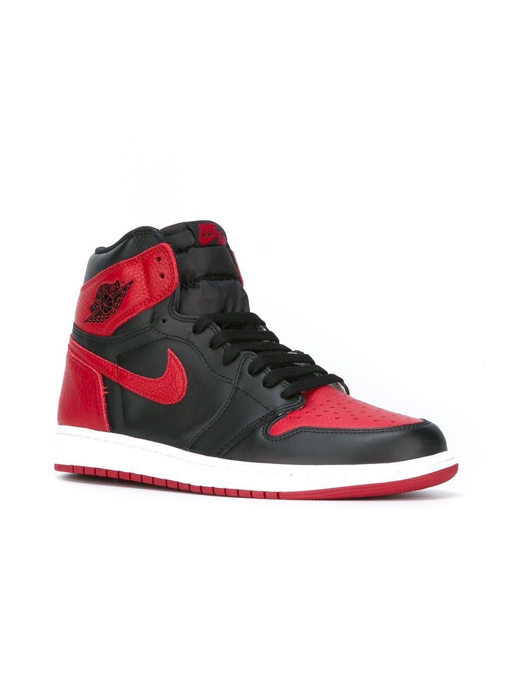 e0f5ba043f093d Nike Air Jordan 1 Retro High Og Banned Sneakers in Red for Men - Lyst