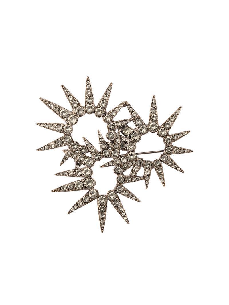 Oscar De La Renta sea urchin crystal brooch - Metallic RCVtsT