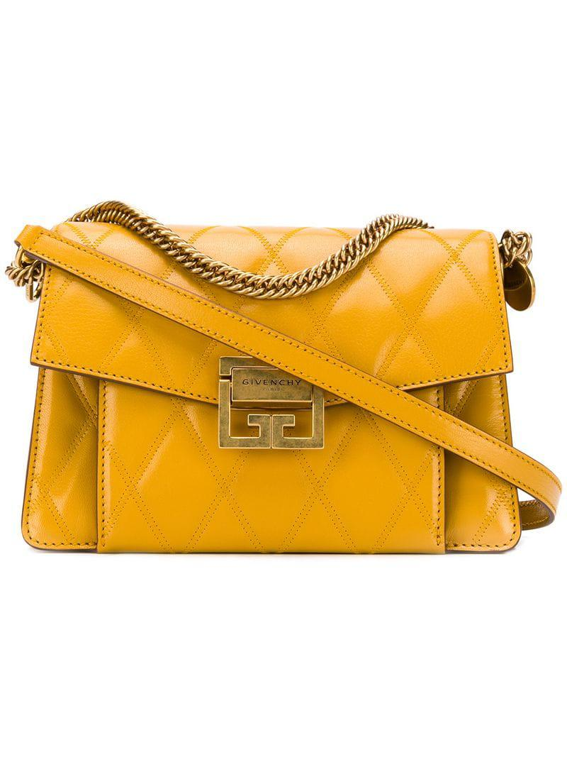 abea0afa507 Givenchy - Yellow Quilted Gv3 Shoulder Bag - Lyst. View fullscreen