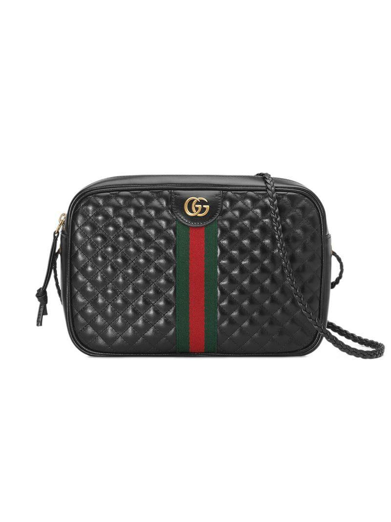 8e657a6666 Lyst - Gucci Small Quilted Leather Shoulder Bag in Black - Save 25%