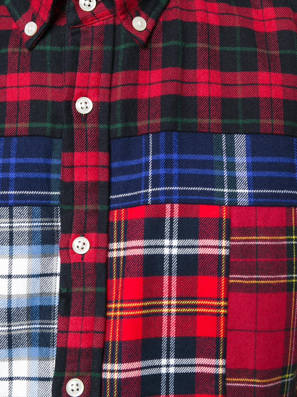 fc997326 Tommy Hilfiger Patchwork Tartan Shirt in Red for Men - Lyst