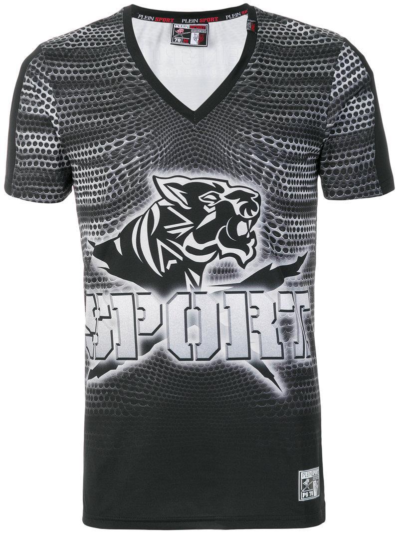 2839b6bcb Lyst - Philipp plein Graphic Print Skinny Fit T-shirt in Black for Men