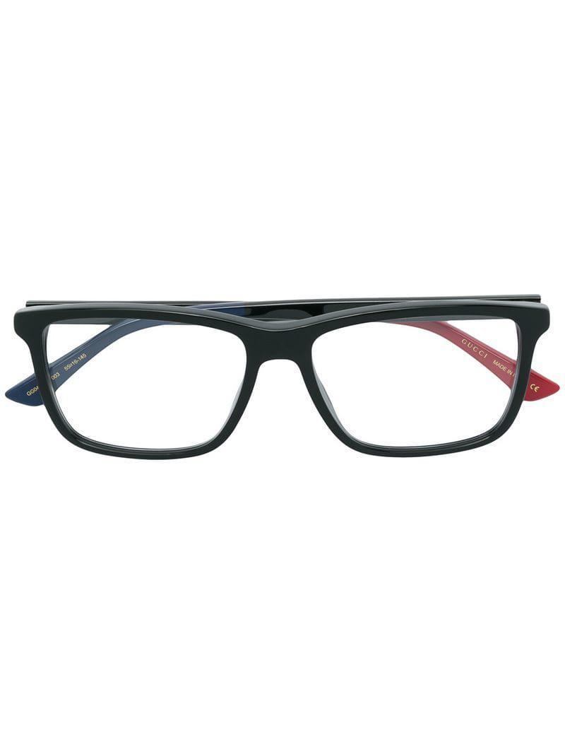 bfc586be69 Gucci Rectangular Glasses in Black for Men - Lyst