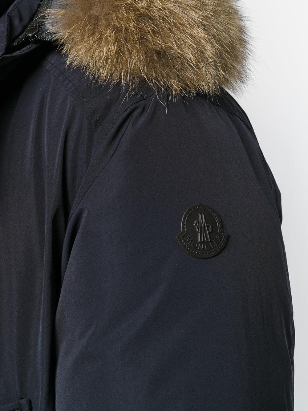 Moncler - Blue River Parka Coat for Men - Lyst. View fullscreen